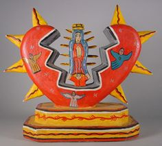 Nicholas Herrera at San Angel Folk Art, San Antonio, lovely Madonna, Native American Pottery, Native American Art, Southwestern Art, Mexico Art, Arte Popular, Indigenous Art, Mexican Folk Art, Art For Art Sake