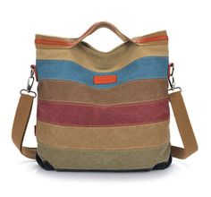 Make from old leather jackets or canvas or other clothing  Stripe vintage shoulder pouch messenger bag