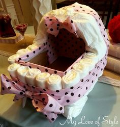 DIY Bassinet Diaper Cake Tutorial ~ step by step instructions.