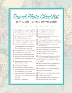 Document your next trip, whether its abroad or somewhere closer to home, with this list of travel photo ideas!