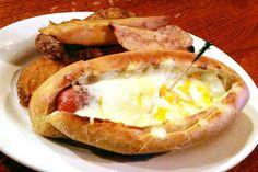 A hot dog from R.F. O'Sullivan's, a restaurant and bar on Beacon Street in Somerville, MA. (from http://hiddenboston.com/foodphotos/osullivans-hot-dog.html) #hotdog