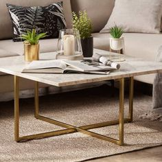 Marble and Metal Coffee Table Furniture Decor, Modern Furniture, Bouclair, Marble Top Coffee Table, Wood And Metal, Decoration, Interior Design, Cofee Tables, Home Decor