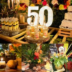 Display Idea Here 60th Birthday Party Decorations, Hawaiian Party Decorations, 30th Birthday Parties, 50th Birthday Party, Themed Parties, Cuban Party Theme, Havana Nights Party Theme, Havana Party, Havanna Nights Party