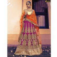 Pink+with+Orange+Color+wedding+Wear+Embroidered+Lehenga+Choli+Dupatta  #indianfashion #dress #latepost #australia #indiandesigner #punjabisuit #pakistanifashion #anarkali #indianweddings #punjabiwedding #tamilbride #bridallengha #southasianbrides  #lehenga #pakistan #india #newyork #fashion #designer #kareenakapoor #bridalshower #weddingdress #weddings #henna #inspiration #indian #dubai #southindian #london #shopping