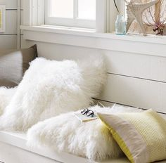 Fluffy white pillows