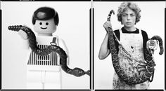Lego recreation of Richard Avedon's 1979 photograph of Boyd Fortin, thirteen years old, Sweetwater, Texas, 1979 by Mike Stimpson (www.mikestimpson.com)
