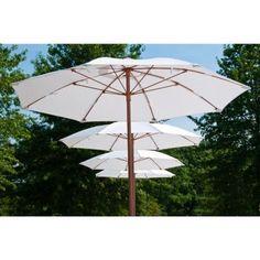Beach Umbrella Fiberglass 7.5 Ft. Hexagon, Wood Pole, Manual Lift, Vent #BeachUmbrellas #ShadingCooling #CozyDays