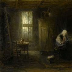 'Alleen op de wereld', Jozef Israëls, , 1878 - Rijksmuseum