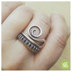 The listing is for one celtic band ring - a beautiful friendship gift symbolizing the binding between true friends. This boho ring is entirely handmade, hammered for more strength, antiqued and polished by hand. This is a minimal spiral ring fits even for a person who usually dont