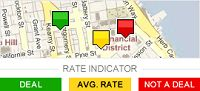 """Bing.com/travel helps you decide when to pull the trigger. After you put in your desired flight itinerary, the site tells you whether to buy your ticket now or to wait, based on historical fare data and price trends. (The site claims to have about a 75 percent accuracy rate, which independent experts don't dispute.) You can use Bing's """"rate indicator"""" to shop for hotel rooms, too. It tells you whether a current price is a """"deal,"""" an """"average rate,"""" or """"not a deal."""""""