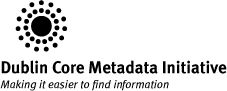 Omeka Neatline Workshop @ NULabTMN by Ryan Cordell: Dublin Core (Registered Trademark) Metadata Initiative logo and catchphrase:  Making it easier to find information: Ryan Cordell just gave one of the best explanations of metadata: it's the data about the data. If you have a printed book, the content is the data; the info on the copyright page is the metadata.