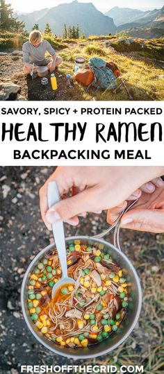 Forget the ramen from your college days – this revamped version is on a whole other level. Protein-packed soba noodles, veggies, and a savory, spicy broth, this is a backpacking meal that you will look forward to all day on the trail! Easy backpacking food ideas | Backpacking meal recipes