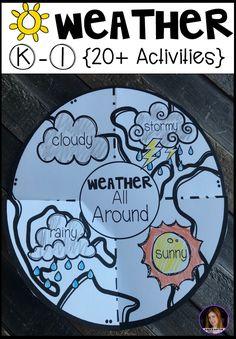 Weather {20+ Activities} for Kindergarten and First Grade