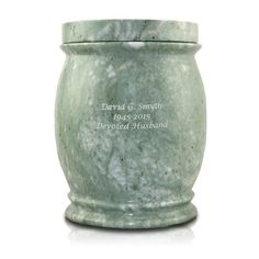 Marble Cremation Urn - Jade Colored - Large