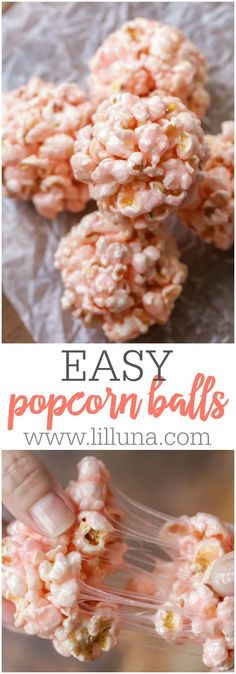 These Easy Popcorn Balls are so sticky and tasty, everyone will love them! They're perfect for any party, holiday or get together and are so simple!