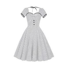 Women's Halter Vintage 1950s Party Swing Cotton Dresses Grid Pattern... (665 RUB) ❤ liked on Polyvore featuring dresses, vintage white dress, vintage party dresses, halter dress, party dresses and white halter top dress