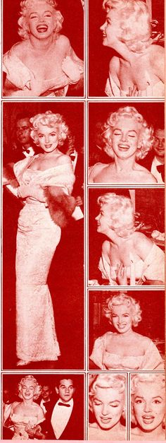 Marilyn Monroe at the premiere of East of Eden, 1955. Photos from Screen Greats Series #4 Marilyn Monroe Collector's Treasure Magazine, 1971.