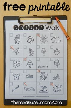 This free printable nature scavenger hunt is a great way to spend time outdoors with your kids!
