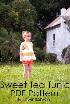 A free pattern for a sweet tea tunic. Size 5/6 For instructions please visit this post: https://shwinandshwin.com/2014/07/sweet-tea-tunic-free-pdf-pattern.html