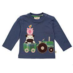 Buy Frugi Baby Organic Cotton Farmyard Tractor Top - Aut/Win 2013 - £18