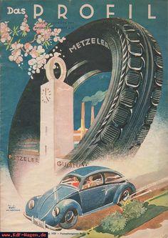 VW - 1939 - Das Profil - 01 - [4586]-1 Vw Vintage, Vintage Porsche, Vintage Signs, Ferdinand Porsche, Ducati, Kdf Wagen, Audi, Volkswagen Karmann Ghia, Lamborghini