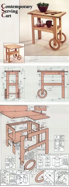 Contemporary Serving Cart Plans - Furniture Plans and Projects | WoodArchivist.com