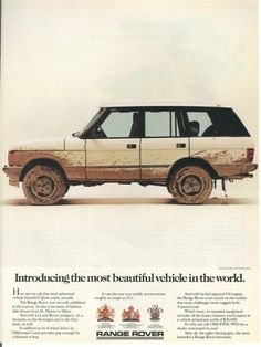 Introducing the most beautiful vehicle in the world