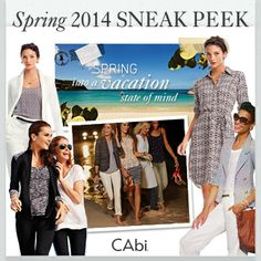#CAbi - Our Spring 2014 Sneak Peek is here! Take a look at the collection, tell us what you think and come on a CAbication with us!
