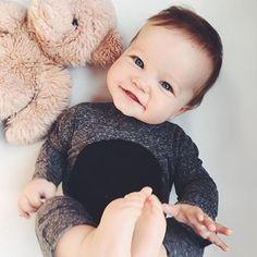 TEDDY BEAR, YOU ARE MY TEDDY BEAR Sundays are for staying in bed. This cutie pie wears the #nununu Hooded Kimono Playsuit | RG @heatherdumont #nununucrew #nununuworld