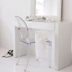 Homedecor, ghost chair, white on white www.abodeaustralia.com