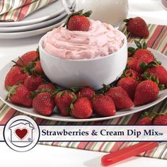 Strawberries & Cream Dip Mix is a much-loved classic as a creamy dip! It's the taste that will take you back to the good old days when Grandma would whip you up a delicious bowl of ripe red strawberri