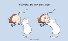 Votre chat prendra soin de vous réveiller le matin, tout en douceur