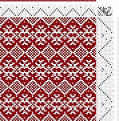 draft image: Scandanavian Pattern, Handweaving.net Visitors, 11S, 7T