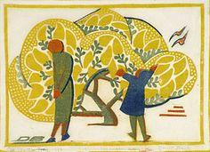 Modern Printmakers: The Grosvenor School of Modern Art Wattle Tree wood engraving by Dorrit Black Australian Painters, Australian Artists, Glasgow School Of Art, Collaborative Art, Wood Engraving, Art Studies, Graphic Design Art, Wood Print, Art World