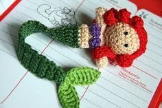 Little+Mermaid+Bookmark+#howto+#tutorial
