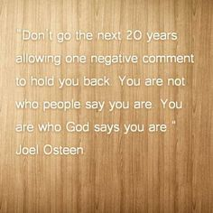 A Joel Osteen Quote