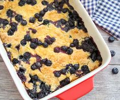 Blueberry Cobbler Dump Cake | Kirbie's Cravings | A San Diego food & travel blog