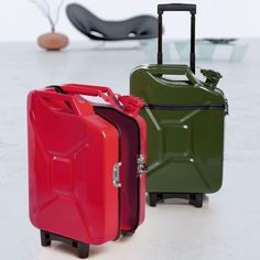 Fuel travel cases...although I imagine they'd be heavy and you'd get stopped for searches constantly, but still cool (other great repurposes on this page)