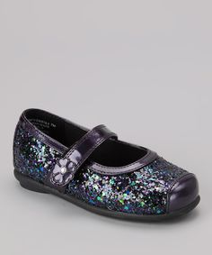 Take a look at this Rachel Shoes Purple Glitter Siesta Mary Jane on zulily today!