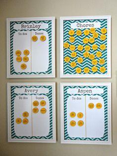 Really Cute Chore Charts!
