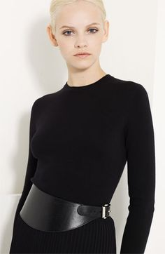 aa59ee36f232 Michael Kors Asymmetrical Leather Belt Maroquinerie, Ceintures En Cuir,  Mode Femme Minimaliste, Ceintures
