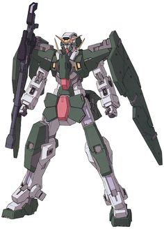 The GN-002 Gundam Dynames (aka Gundam Dynames, Dynames), is the long-range specialist Gundam in season one of Mobile Suit Gundam 00, piloted by Lockon Stratos. Dynames would later be redeveloped as GN-002RE Gundam Dynames Repair in A.D. 2314, briefly piloted by the second Lockon Stratos.