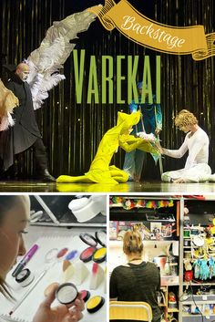 A day behind-the-scenes with Cirque du Soleil's Varekai, see the makeup process, rehearsal, costume + wardrobe, and more.