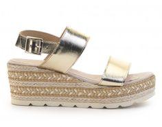 Sandalia cuña piel FOSCO Espadrilles, Baby Shoes, Sandals, Clothes, Fashion, Fur, Summer Time, Espadrilles Outfit, Outfits
