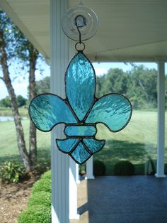 Fleur+De+Lis+Stained+Glass+Suncatcher+by+TheGlassShire+on+Etsy,+$18.00