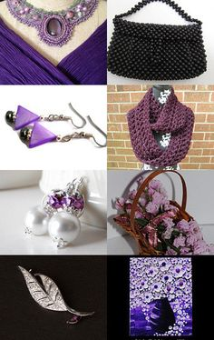 My newest Etsy treasury: Black, white, and purple. --Pinned with TreasuryPin.com