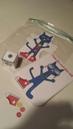 Pete the Cat Dice Game (from Teaching Heart Blog)