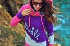 Women's handmade hoodie | surf lifestyle | colorful & warm by LetsDoodle   #handmade #hoodie #pink #surf #cotton