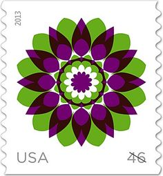 Kaleidoscope flower stamps