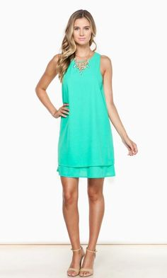 NOW AND THEN DRESS IN GREEN